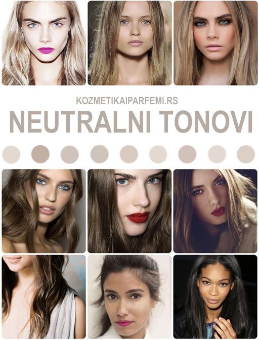 Neutralni tonovi kose