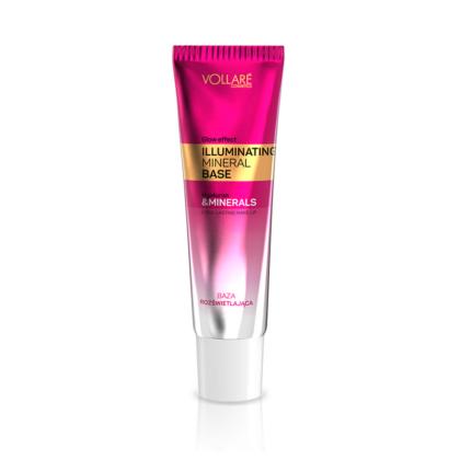 Podloga za šminku VOLLARE za zaglađivanje i osvežavanje kože Illuminating Mineral