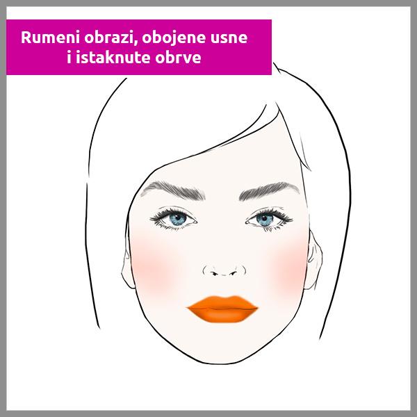 Rumeni-obrazi,-obojene-usne-i-istaknute-obrve