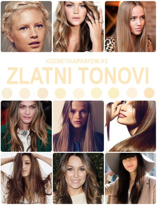 Zlatni tonovi kose