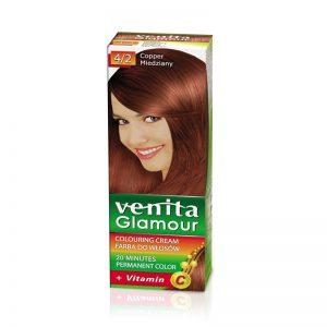 Farba za kosu sa vitaminom C VENITA Glamour (4/2 Copper)