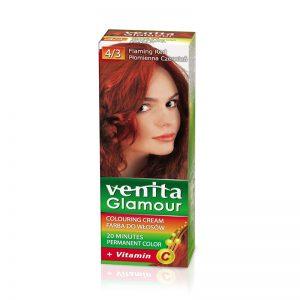 Farba za kosu sa vitaminom C VENITA Glamour (4/3 Flaming Red)