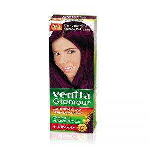 Farba za kosu sa vitaminom C VENITA Glamour (4/4 Dark Aubergine)