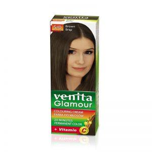Farba za kosu sa vitaminom C VENITA Glamour (5/0 Brown)