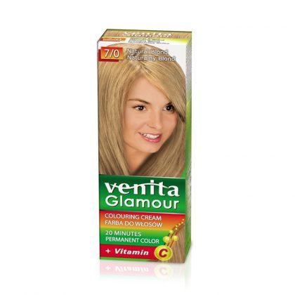 Farba za kosu sa vitaminom C VENITA Glamour (7/0 Natural Blond)