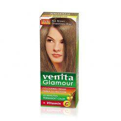 Farba za kosu sa vitaminom C VENITA Glamour (7/3 Nut Brown)