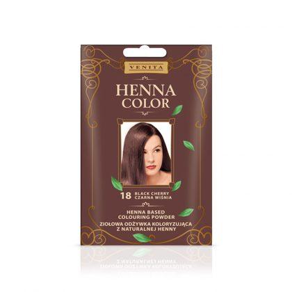 Kana prah za kosu VENITA Henna Color (018 Black Cherry)