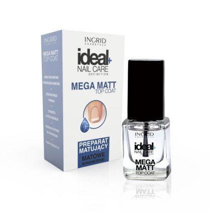 Lak za negu noktiju INGRID Ideal+ Mega Matt Top Coat