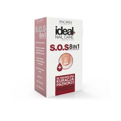 Lak za negu noktiju INGRID Ideal+ S.O.S 8 u 1