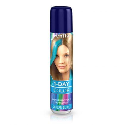 Sprej za kosu u boji VENITA 1-Day (02 Ocean Blue)