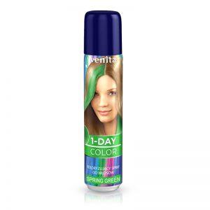 Sprej za kosu u boji VENITA 1-Day (03 Spring Green)
