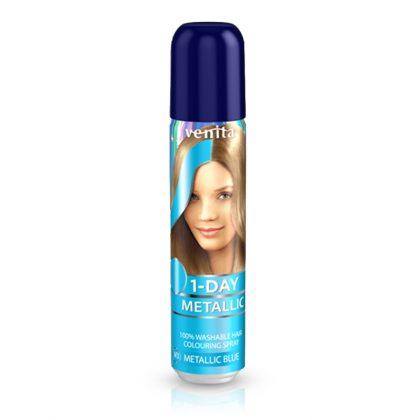 Sprej za kosu u metalik boji VENITA 1-Day (M3 Metallic Blue)