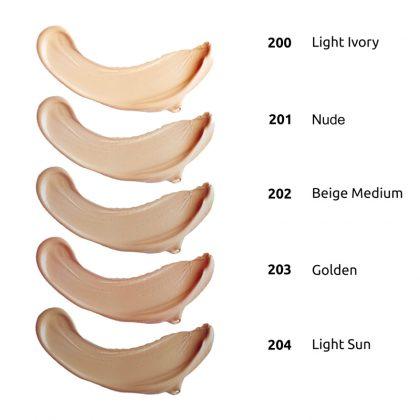 Tečni puder INGRID IdeaLUMI Nude (paleta)