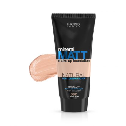 Tečni puder INGRID Mineral Matt (302 Light Sun)