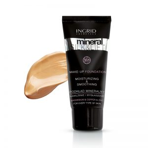 Tečni puder INGRID Mineral Silk & Lift (30 Natural Beige)