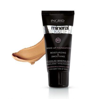 Tečni puder INGRID Mineral Silk & Lift (32 Warm Sand)
