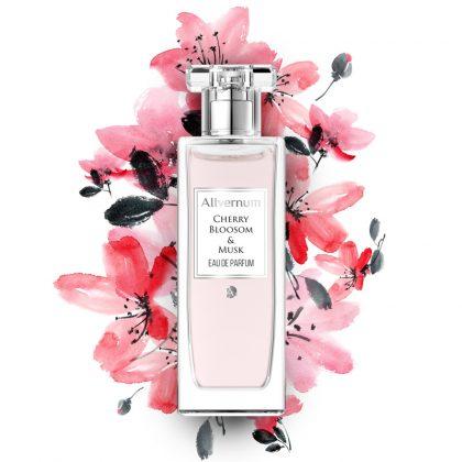 Ženski parfem ALLVERNUM Cherry Bloosom & Musk (umetnički prikaz)