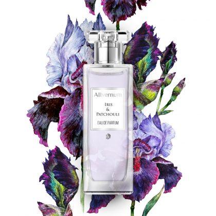 Ženski parfem ALLVERNUM Iris & Patchouli (umetnički prikaz)